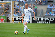 Jackson Yueill of the San Jose Earthquakes during a MLS soccer game against the New York City FC, Saturday, Sept. 14, 2019, in New York.NYCFC defeated San Jose Earthquakes 2-1.(Errol Anderson/Image of Sport)