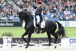 15.08.2015, Aachener Soers, Aachen, GER, FEI Europameisterschaften Aachen 2015, im Bild 8. Platz im Stroemenden Regen: Jessica von Bredow-Werndl (GER) auf Ihrem Pferd Unee BB, D2 Meggle-preis, // during the FEI European Championships Aachen 2015 at the Aachener Soers in Aachen, Germany on 2015/08/15. EXPA Pictures © 2015, PhotoCredit: EXPA/ Eibner-Pressefoto/ Roskaritz<br /> <br /> *****ATTENTION - OUT of GER*****