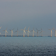 Middelgrunden is an offshore wind farm in Denmark's Oresund about 3.5 km outside Copenhagen helps to integrate wind power into the country's electricity system.<br /> Photography by Jose More