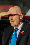 Ian Holloway Manager of Millwall looks on before the Sky Bet Championship match at Vicarage Road, Watford<br /> Picture by David Horn/Focus Images Ltd +44 7545 970036<br /> 01/11/2014