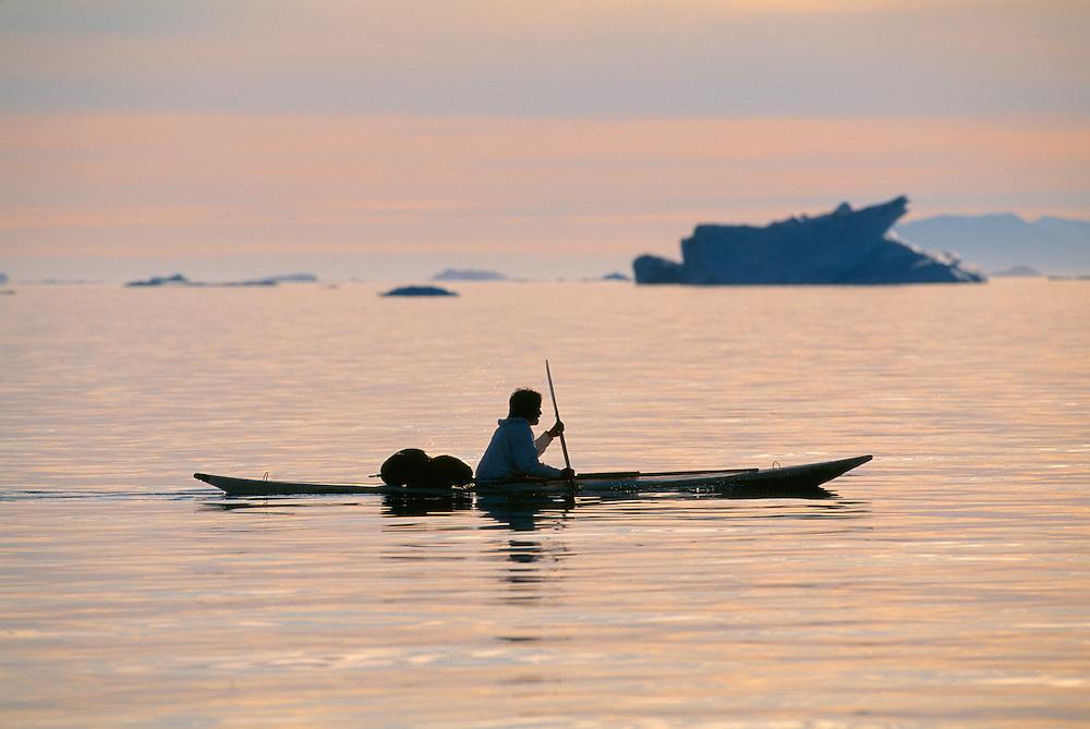 inuit Narwhal hunter Gideon Kristiansen, Quaanaaq, North West Greenland
