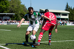 NEWTOWN, WALES - Sunday, May 6, 2018: Michael Bakare of Conahs Quay Nomads and captain Ashley Young of Aberystwyth Town during the FAW Welsh Cup Final between Aberystwyth Town and Connahs Quay Nomads at Latham Park. (Pic by Paul Greenwood/Propaganda) Rob Hughes Jonny Spittle