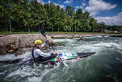 Eva Alina Hocevar, 18-years old kayak and canoe Slovenian athlete during practice session in Tacen, Ljubljana, Slovenia. Photo by Vid Ponikvar / Sportida