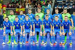 Team Ukraine during futsal match between Ukraine and Spain in Quaterfinals of UEFA Futsal EURO 2018, on February 6, 2018 in Arena Stozice, Ljubljana, Slovenia. Photo by Ziga Zupan / Sportida