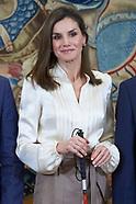 012318 Queen Letizia attends audiences at Zarzuela Palace