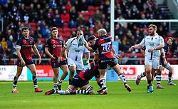 Shaun Malton of Bristol Bears loses possession of the ball -Mandatory by-line: Nizaam Jones/JMP - 23/02/2020 - RUGBY - Ashton Gate - Bristol, England - Bristol Bears v Worcester Warriors - Gallagher Premiership Rugby