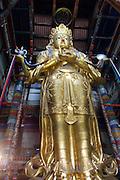 ULAN BATOR, MONGOLIA..09/05/2001.Gandan Khiid (monastery)..Migjid Janraisig statue of Buddha at Migjid Janraisig Su?m..(Photo by Heimo Aga)