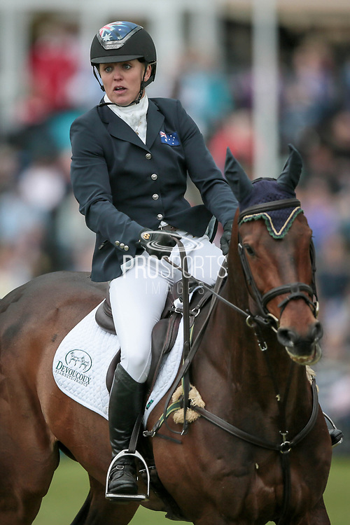 Third placed HUNTER VALLEY II ridden by Sammi Birch (AUS) during the Equitrek CCI*** show jumping event on day four of Bramham International Horse Trials 2017 at  at Bramham Park, Bramham, United Kingdom on 11 June 2017. Photo by Mark P Doherty.