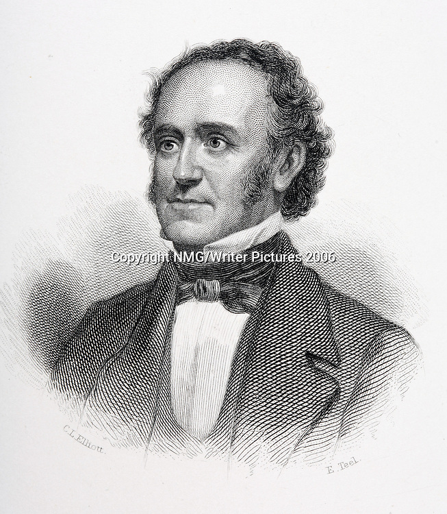 Fitz-Greene Halleck (1790-1867)<br />American poet<br />Copyright NMG/Writer Pictures<br />contact +44 (0)20 82410039<br />sales@writerpictures.com<br />www.writerpictures.com
