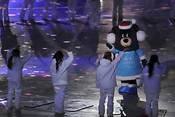 March 9, 2018 - Pyeongchang, GANGWON, SOUTH KOREA - March 09, 2018-Pyeongchang, South Korea-2018 Pyeongchang Parilympic mascot Banddabi performs at the stadium during the opening ceremony of the PyeongChang 2018 Paralympic Games at the PyeongChang Olympic Stadium in Pyeongchang, South Korea. (Credit Image: © Gmc via ZUMA Wire)