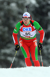 Evgeny Abramenko (BLR) at Men 20 km Individual at E.ON Ruhrgas IBU World Cup Biathlon in Hochfilzen (replacement Pokljuka), on December 18, 2008, in Hochfilzen, Austria. (Photo by Vid Ponikvar / Sportida)