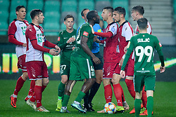 Jucie Lupeta, Ilija Martinovic during football match between NK Olimpija Ljubljana and NK Aluminij in semi final of Slovenian Cup 2018/19, on April 23, 2019 in Stozice Stadium, Ljubljana, Slovenia. Photo by Morgan Kristan