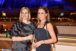 Zara Tindall and Natalie Pinkham at the Range Rover Velar Global Reveal at The Design Museum, London England. 1 March 2017.