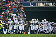 Indianapolis Colts enter the stadium during the International Series match between Indianapolis Colts and Jacksonville Jaguars at Wembley Stadium, London, England on 2 October 2016. Photo by Jason Brown.