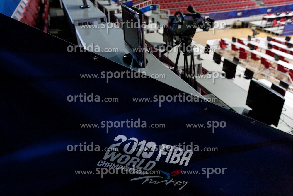 Media positions in Abdi Ipekci Arena - Abdi Ipekci Spor Salonu na Ulasim two days prior to the 2010 FIBA Basketball World Championship, on August 26, 2010, in Istanbul,Turkey. (Photo by Vid Ponikvar / Sportida)