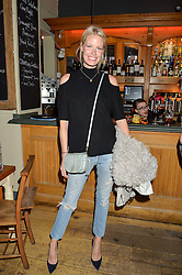 CAROLINE WINBERG at a quiz night hosted by Zoe Jordan to celebrate the launch of her men's ZJKNITLAB collection held at The Larrick Pub, 32 Crawford Place, London on 20th April 2016.