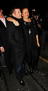 30.JANUARY.2007. LONDON<br /> <br /> DAVINA McCALL ARRIVING AT THE BIG BROTHER WRAP PARTY AT VICTORIA HOUSE, RUSSEL SQURAE WITH DERMOT O'LEARY.<br /> <br /> BYLINE: EDBIMAGEARCHIVE.CO.UK<br /> <br /> *THIS IMAGE IS STRICTLY FOR UK NEWSPAPERS AND MAGAZINES ONLY*<br /> *FOR WORLD WIDE SALES AND WEB USE PLEASE CONTACT EDBIMAGEARCHIVE - 0208 954 5968*