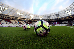 Match balls on the pitch ahead of the game