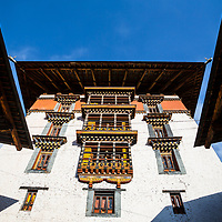 Traditional and historical monastery in Bhutan