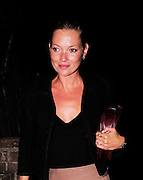 10.SEPTEMBER.2009 - LONDON<br /> <br /> SUPERMODEL KATE MOSS LEAVES HER HOUSE DRIVING HERSELF TO A FRIENDS HOUSE IN NOTTING HILL FOR A FRIENDS BIRTHDAY WHERE SHE MET UP WITH BOYFRIEND JAMIE HINCE. THEY BOTH STAYED THERE TILL 1.00AM AND LEFT IN A TAXI BUT LEFT HER CAR AT HER FRIENDS HOUSE AS SHE MUST OF HAD TO MUCH TO DRINK TO DRIVE HOME.<br /> <br /> BYLINE: BLOOMS/EDBIMAGEARCHIVE.COM<br /> <br /> *THIS IMAGE IS STRICTLY FOR UK NEWSPAPERS AND MAGAZINE USE ONLY* <br /> *FOR WORLD WIDE SALES AND WEB USE PLEASE CONTACT EDBIMAGEARCHIVE - 0208 954 5968*