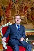 Brussels , 19/10/2018<br /> Prime Minister Charles Michel will meet Russian Prime Minister Dmitry Medvedev on Friday 19 October as part of his participation in the EU-ASEM Summit .<br /> Pix : Dmitry Medvedev / Charles Michel<br /> Credit : Daina Le Lardic / Isopix