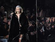 Gigi Hadid walks in the FENTY PUMA by Rihanna show during New York Fashion Week, Friday, Feb. 12, 2016.  (AP Photo/Diane Bondareff)