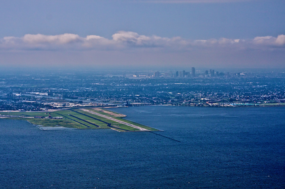 New Orleans Lakefront Airport and Skyline, View SW