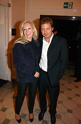 MATTHEW FREUD and GENEVIEVE HOBERMAN at The Hospital Awards - to honour talent in the creative industry, held at 9 Grosvenor Place, London on 3rd october 2006.<br /><br />NON EXCLUSIVE - WORLD RIGHTS