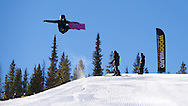 Chloe Kim training in the superpipe and free riding at Copper Mountain in Copper Mountain, CO. ©Brett Wilhelm/ESPN