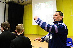 Pat Lam attends Bridge Learning Campus for a tour and to deliver a speech during an assembly  - Mandatory by-line: Dougie Allward/JMP - 20/03/2018 - Rugby - Bridge Learning Campus - Bristol, England - Pat Lam School Visit