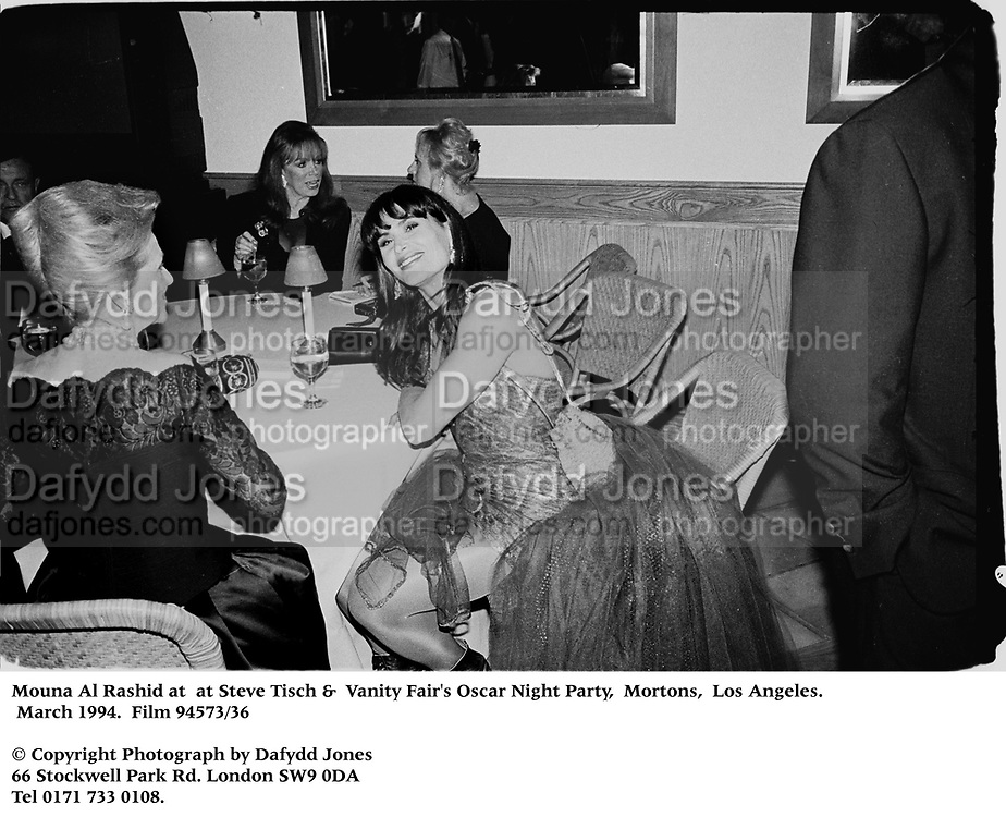 Mouna Al Rashid at  at Steve Tisch &amp;  Vanity Fair's Oscar Night Party,<br />