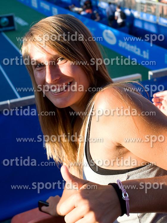 Polona Hercog of Slovenia watching tennis match at 1st Round of Banka Koper Slovenia Open WTA Tour tennis tournament, on July 20 2009, in Portoroz / Portorose, Slovenia. (Photo by Vid Ponikvar / Sportida)