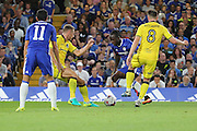 Chelsea attacker Victor Moses (15) dribbling during the EFL Cup match between Chelsea and Bristol Rovers at Stamford Bridge, London, England on 23 August 2016. Photo by Matthew Redman.