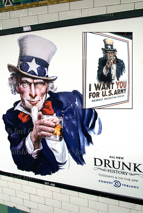 Humorous take off of the Army recruitment poster of Uncle Sam &quot;I Want You For he US Army&quot; from World War I.<br /> <br /> Drunk History is an American television comedy series produced by Comedy Central.<br /> <br /> In each episode, an inebriated narrator, who is played by a comedian joined by host Waters, struggles to recount an event from American history, while actors enact the narrator's anecdote and lip sync the dialog.