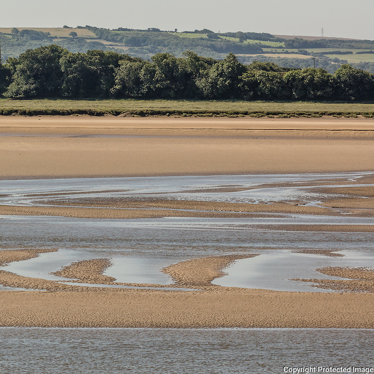 River Taw at low tide, Barnstaple, Devon.