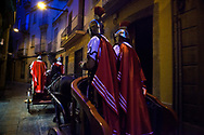 The Roman Legion of Mataró, the Armats of Mataró, in the city center of Mataró. Procession of the arrest of Jesus in the city of Mataró (Barcelona), Spain. Easter 2013, Eva Parey/4SEE.