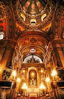 Altar and ceiling, Candelaria Church, Centro, Rio de Janeiro, Brazil