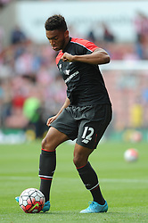 Joe Gomez of Liverpool - Mandatory byline: Dougie Allward/JMP - 07966386802 - 09/08/2015 - FOOTBALL - Britannia Stadium -Stoke-On-Trent,England - Stoke City v Liverpool - Barclays Premier League