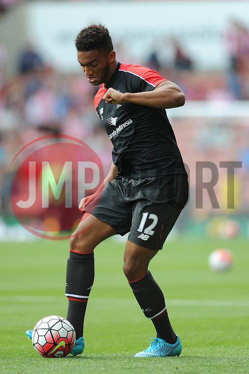 Joe Gomez of Liverpool - Mandatory byline: Dougie Allward/JMP - 07966386802 - 09/08/2015 - FOOTBALL - Britannia Stadium -Stoke-On-Trent,England - Stoke City v Liverpool - Barclays Premier League