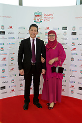 LIVERPOOL, ENGLAND - Thursday, May 12, 2016: Liverpool sponsors xxxx and xxxx arrive on the red carpet for the Liverpool FC Players' Awards Dinner 2016 at the Liverpool Arena. (Pic by David Rawcliffe/Propaganda)