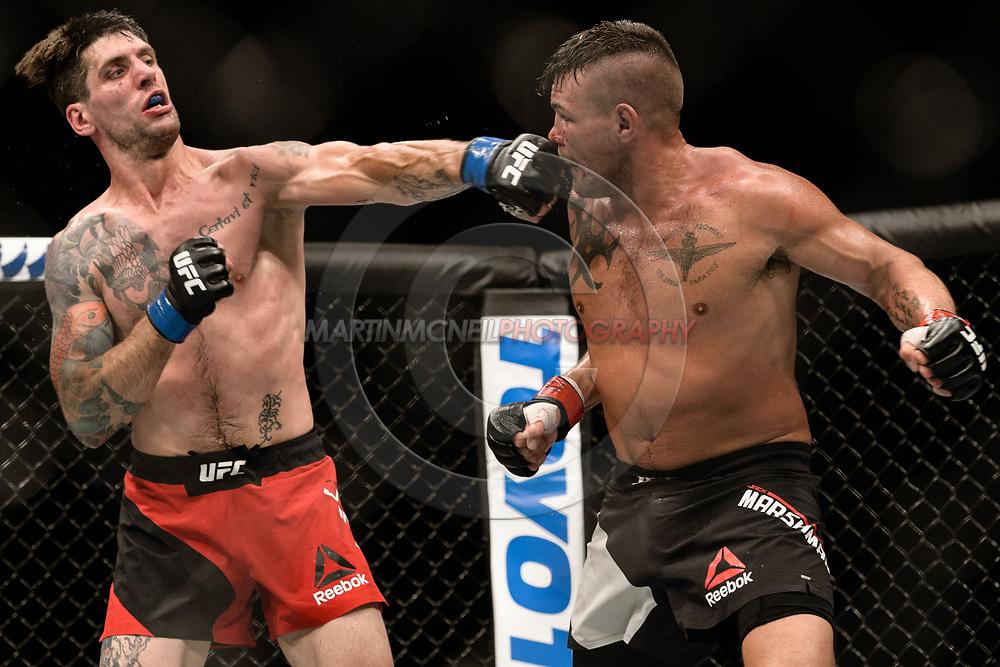 "GLASGOW, UNITED KINGDOM, JULY 16, 2017:  during ""UFC Fight Night Glasgow: Nelson vs. Ponzinibbio"" inside the SSE Hydro Arena in Glasgow, Scotland on Sunday, July 16, 2017."