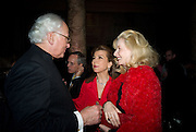 Sir Evelyn de Rothschild,H.R.H. Princess Firyal and Lady Weidenfeld, Opening of Blood on Paper: the art of the Book. V & A. Museum. London. 14 April 2008. Afterwards there was a dinner hosted by Lady Foster.  *** Local Caption *** -DO NOT ARCHIVE-© Copyright Photograph by Dafydd Jones. 248 Clapham Rd. London SW9 0PZ. Tel 0207 820 0771. www.dafjones.com.
