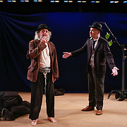 Waiting for Godot performed in yiddish. Vartyn Af Godot. Co-produced by New Yiddish Repertory and Castillo Theater. 2013. NY, NY.