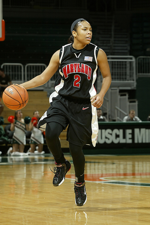 University of Maryland guard Sa'de Wiley-Gatewood in action during the Terrapins 111-53 victory over the Miami Hurricanes on January 10, 2007 at the BankUnited Center in Coral Gables, Florida.
