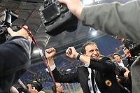 Allegri festeggia il Milan campione d'Italia<br /> Roma vs Milan<br /> Campionato di Calcio serie A<br /> Stadio Olimpico, Roma, 07/05/2011<br /> Photo Antonietta Baldassarre Insidefoto