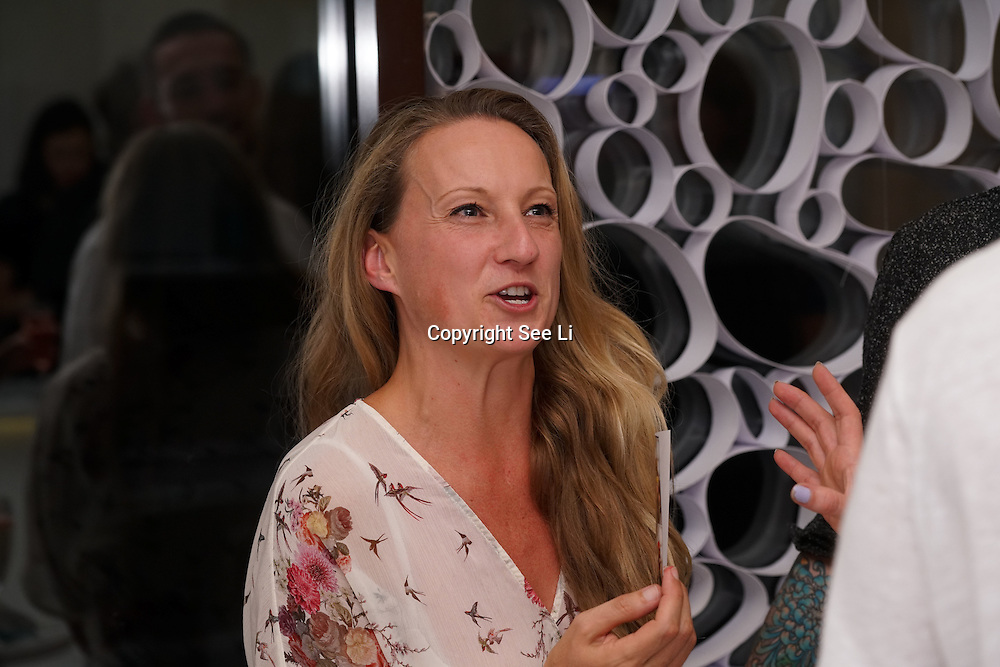 London,England,UK, 11th Aug 2016 : Vanessa Higgins is a Head of fashion designer attend the wine retailer hosts summer party to sample its award-winning sparkling wine range at Icetank Studios, Lo0ndon,UK. Photo by See Li
