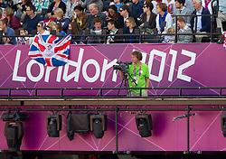 Blaz Oman of TV Slovenija during Day 7 of the Summer Paralympic Games London 2012 on September 4, 2012, in Olympics stadium, London, Great Britain. (Photo by Vid Ponikvar / Sportida.com)