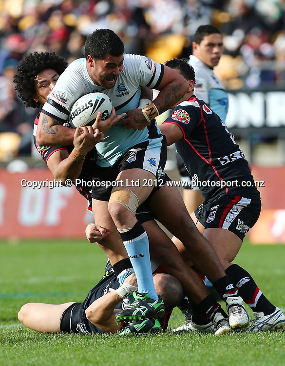 Andrew Fifita of the Sharks during the NRL game, Vodafone Warriors v Cronulla Sharks, Mt Smart Stadium, Auckland, Sunday 5 August  2012. Photo: Simon Watts /photosport.co.nz