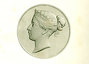 Queen Victoria of England, Engraved by C. Chabot