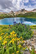 Ice Lake; Fuller Peak, Vermilion Peak, and Golden Horn; near Silverton, Colorado